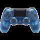 Sony PS4 DualShock 4 v2, průhledný modrý  + Voucher až na 3 měsíce HBO GO jako dárek (max 1 ks na objednávku)