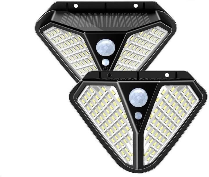 Viking venkovní světlo Z102, LED, solární, s pohybovým senzorem, černá