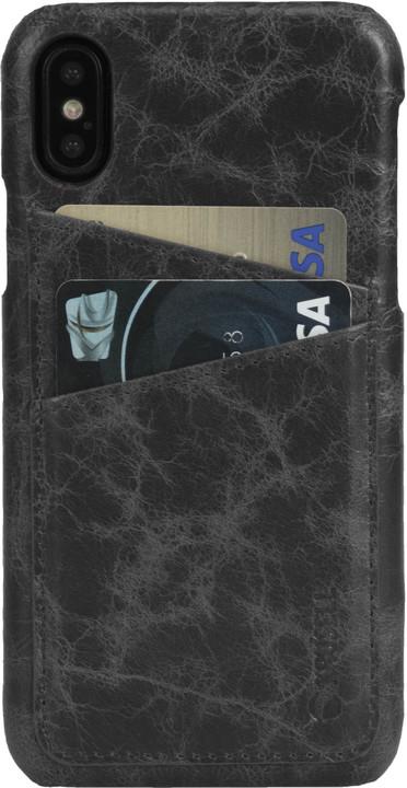 Krusell zadní kryt TUMBA 2 CARD pro Apple iPhone X, černý mramor
