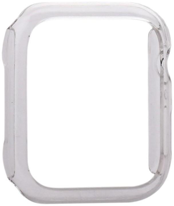 COTEetCI ochranný kryt pro Apple Watch, PC Plated, 44mm, transparentní