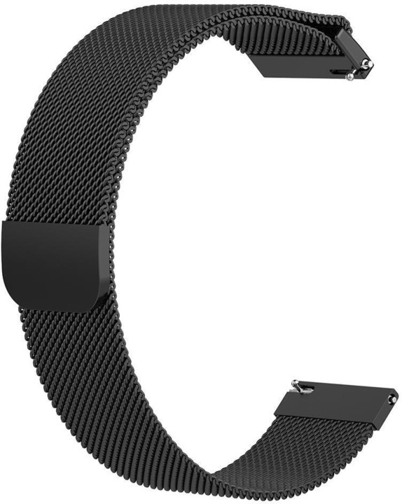 ESES milánský tah pro Samsung Galaxy Watch 46mm/ Samsung Gear S3/ Huawei Watch 2, černá