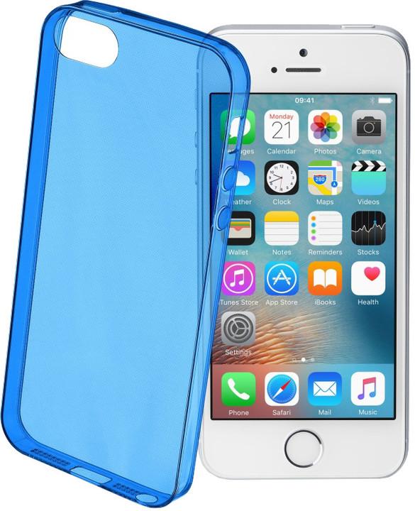 CellularLine COLOR barevné gelové pouzdro pro Apple iPhone 5/5S/SE, modré