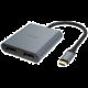 Akasa redukce USB Type C na 2x DisplayPort, 18cm
