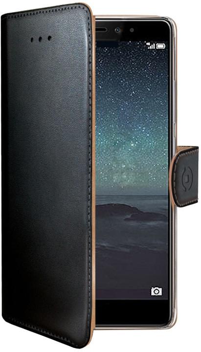 CELLY Wally pouzdro pro Huawei Mate S, PU kůže, černá