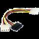 Gembird CABLEXPERT kabel SATA napájecí 15cm 1x 5,25 na 1x 5,25 a 1xSATA