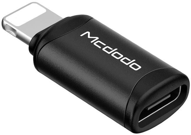 Mcdodo adaptér USB-C - Lightning, černá