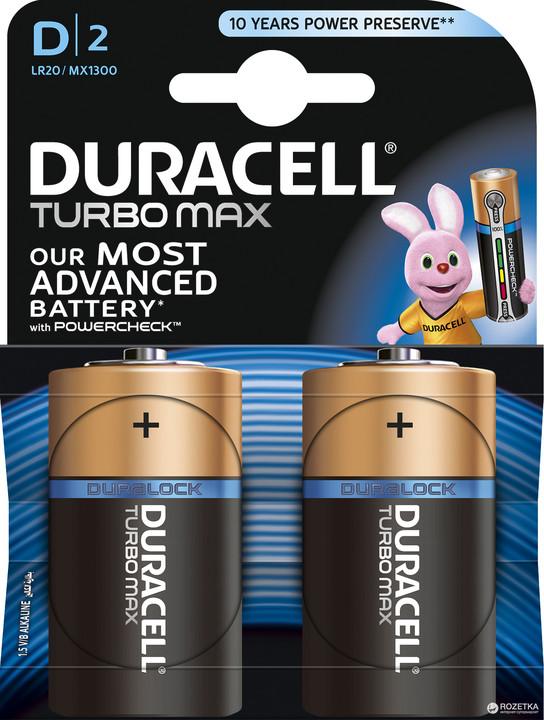 Duracell Turbo Max D, 2ks Dularolck