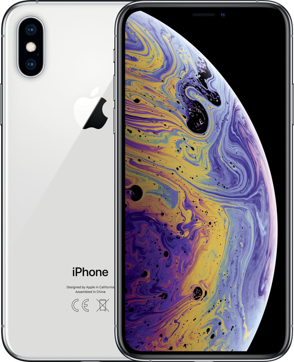 Apple iPhone Xs, 64GB, stříbrná