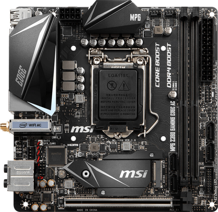 MSI MPG Z390I GAMING EDGE AC - Intel Z390