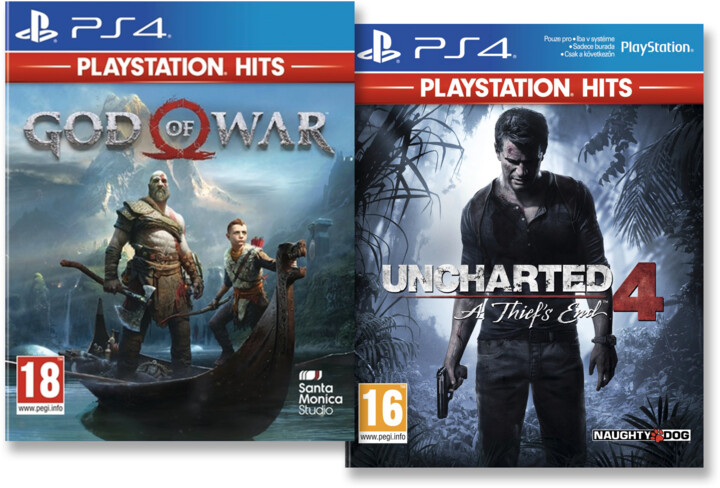 PS4 HITS - God of War + Uncharted 4: A Thief's End