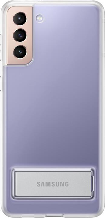 Samsung ochranný kryt Clear Standing pro Samsung Galaxy S21+, se stojánkem, transparentní