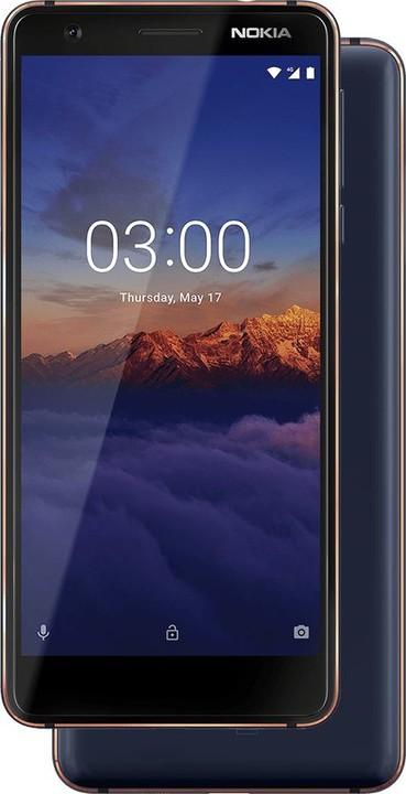 Nokia 3.1, 16GB, Single SIM, modrá