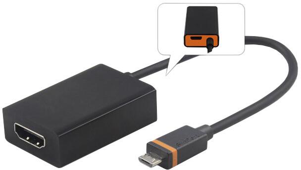 PremiumCord SlimPort/MyDP adaptér na HDMI s micro USB napájením