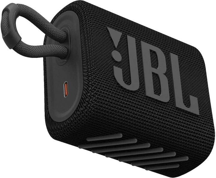 JBL GO3, černá