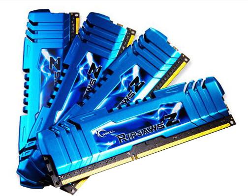 G.SKill RipjawsZ 32GB (4x8GB) DDR3 2133 CL10