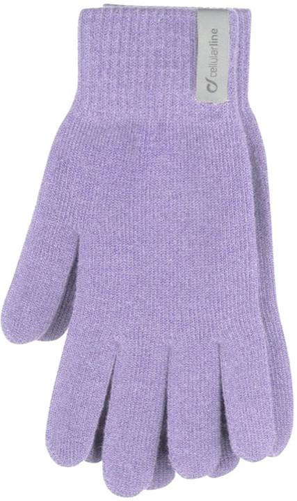 CellularLine Touch Gloves zimní rukavice na dotykové displeje, M, fialová