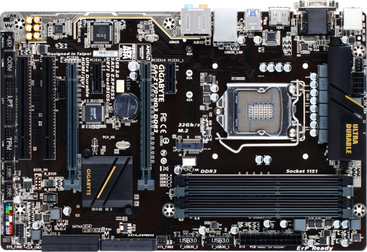 GIGABYTE Z170-HD3 DDR3 - Intel Z170