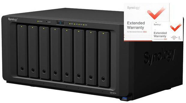 Synology DS1817+ (2GB) DiskStation + rozšířená záruka 5 let