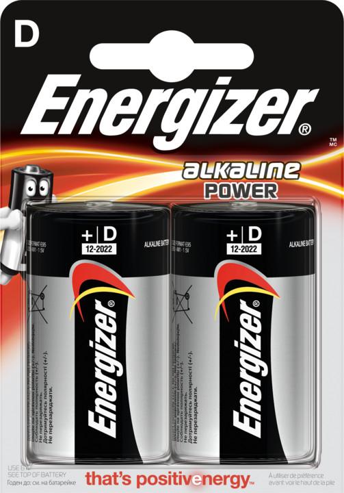 Energizer baterie LR20/2 Power Alkaline D, 2ks