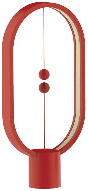 Heng Balance Lamp Plastic Ellipse USB, červená