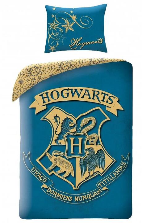 Povlečení Harry Potter - Hogwarts (modré)