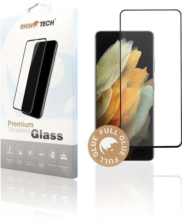 RhinoTech 2 ochranné sklo pro Samsung Galaxy S21 Ultra 5G, 2.5D, černá