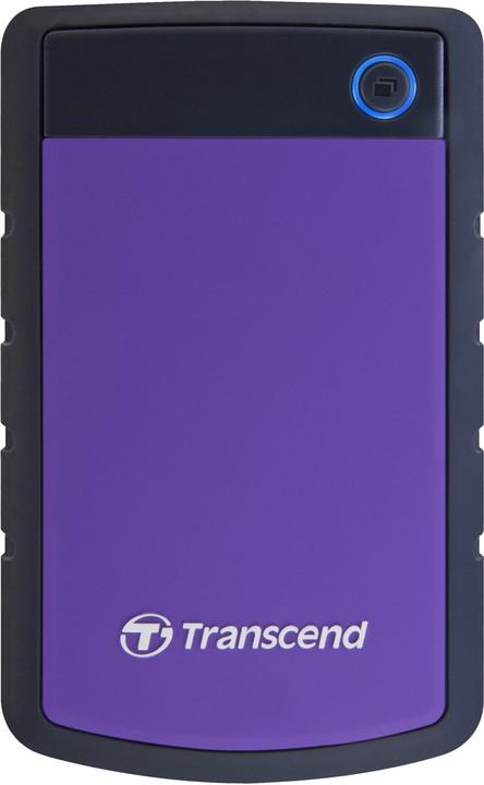 Transcend StoreJet 25H3P - 1TB, purpurový