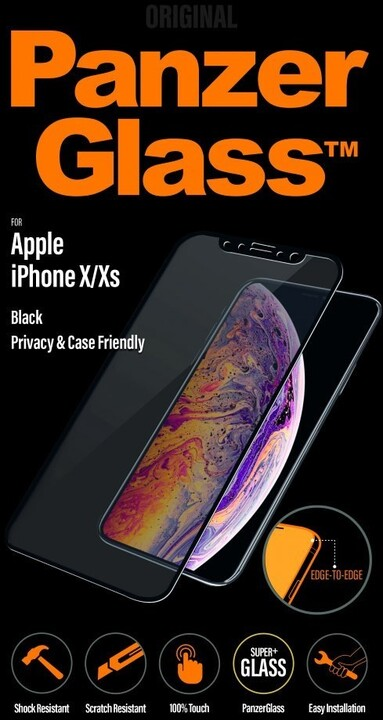 PanzerGlass Edge-to-Edge Privacy pro Apple iPhone X/Xs černé