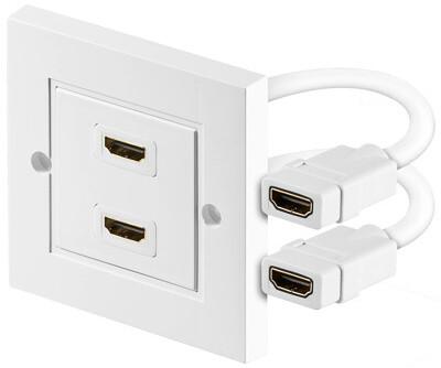 PremiumCord HDMI zásuvka v panelu 2x HDMI A - HDMI A Female/Female