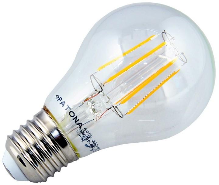 Patona E27/230V, A60 Filament, 7,5W, teplá bílá, 810lm