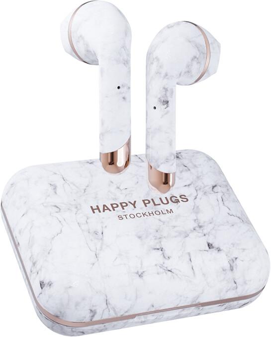Happy Plugs Air 1 Plus, bílý mramor