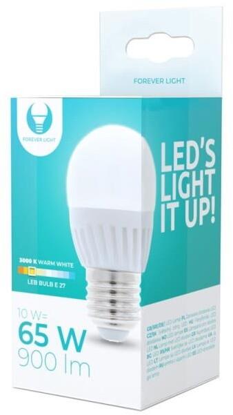 Forever žárovka G45 E27, LED, 10W, 3000K, teplá bílá