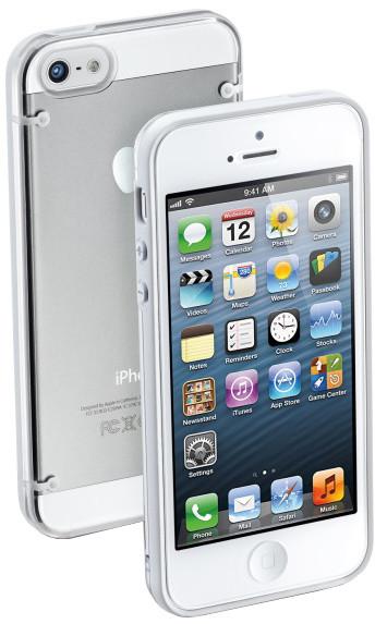 CellularLine zadní ochranný kryt Bumper Plus pro Apple iPhone 5/5S/SE, bílá+ fólie na displej