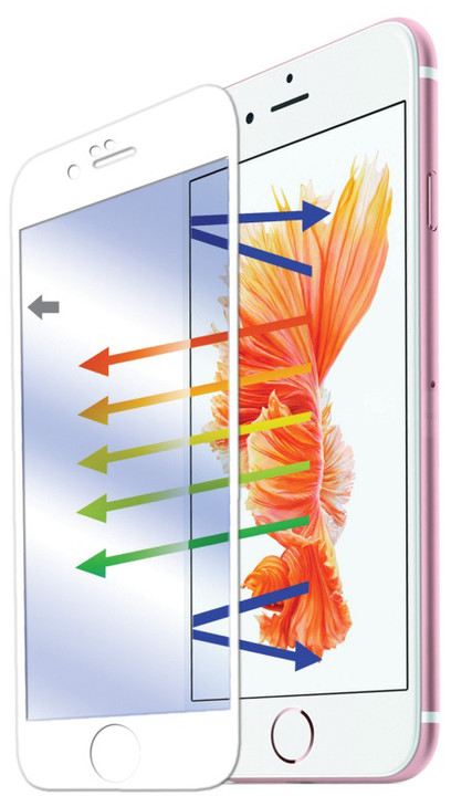 CELLY ochranné tvrzené sklo Glass pro Apple iPhone 6/6S - bílá