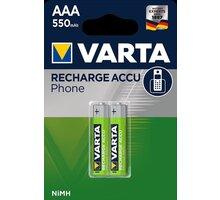 VARTA nabíjecí baterie Phone AAA 550 mAh, 2ks - 58397101402