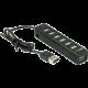 YENKEE USB hub YHB 7001BK, 7x USB-A 2.0, černá