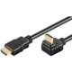PremiumCord HDMI zahnutý konektor 270° 10m + Ethernet kabel