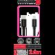 SWISSTEN textilní datový kabel USB-C - Lightning, 2 m, černý