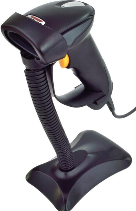 Virtuos HT-310A - USB (klávesnice/RS-232 emulace), stojánek, černá
