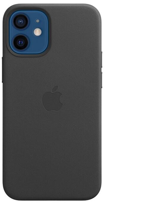 Apple kožený kryt s MagSafe pro iPhone 12 mini, černá