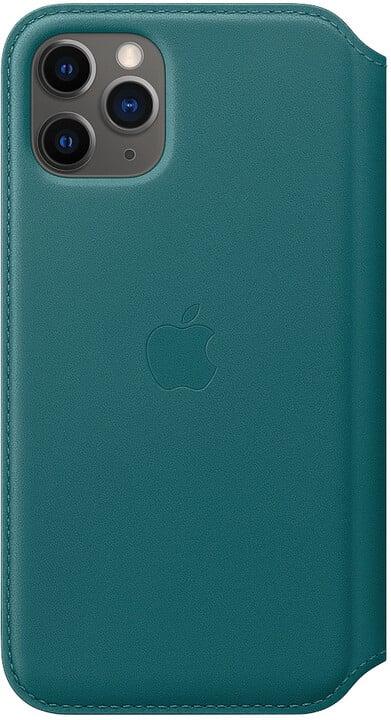 Apple ochranný kryt Leather Folio pro iPhone 11 Pro, zeleno-modrá