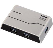 Hama USB 3.0 Hub 1:4, s napájením, černá - 39879
