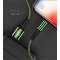 USAMS dobíjecí/datový kabel SJ243 Lightning Smart Power Off 1.2m, zelená