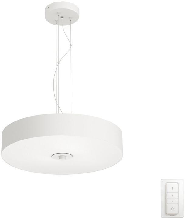 PHILIPS Fair Závěsné svítidlo, Hue White ambiance, 230V, 1x39W integ.LED, bílá