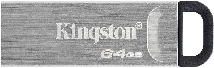 Kingston DataTraveler Kyson, - 64GB, stříbrná