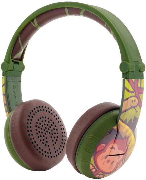 Buddyphones Wave - Monkey, zelená