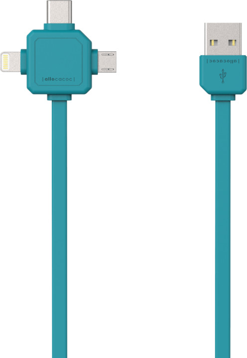 PowerCube Cable 1.5m, USB-C, modrý