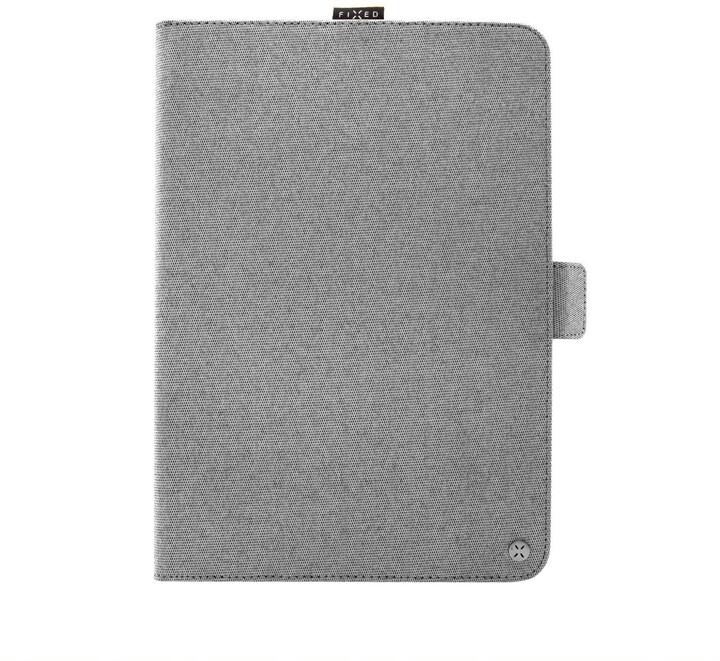 """FIXED textilní pouzdro Novel se stojánkem pro tablety 10.1"""", šedá"""