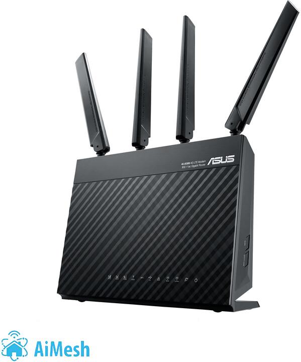 ASUS 4G-AC68U, Wi-Fi AC1900 Dual-band LTE Modem Router Aimesh system