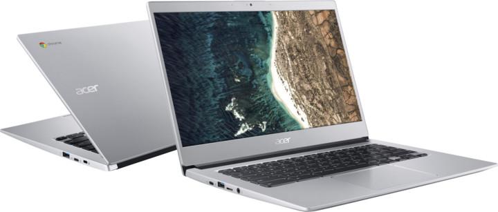 Acer Chromebook 14 celokovový (CB514-1HT-P0U1), stříbrná
